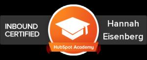 Inbound Marketing Certified with Hubspot