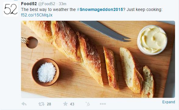 Food 52 Twitter Post