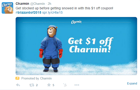 Charming Promoted Tweet During Blizzard